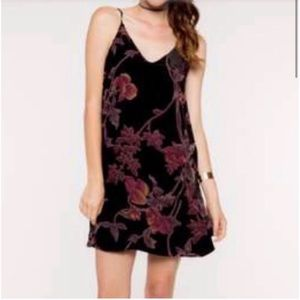 Everly Velvet Floral Cami Dress